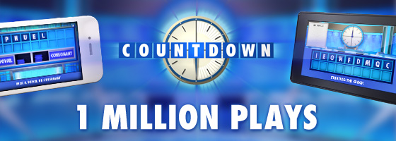 1 million plays on our new Official Countdown App!