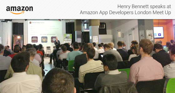 Henry Bennett speaks at Amazon App Developers London Meet Up